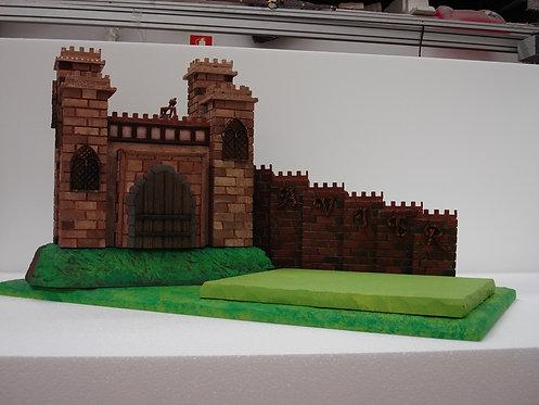 REF.413 Base tarta castillo medieval con nombre