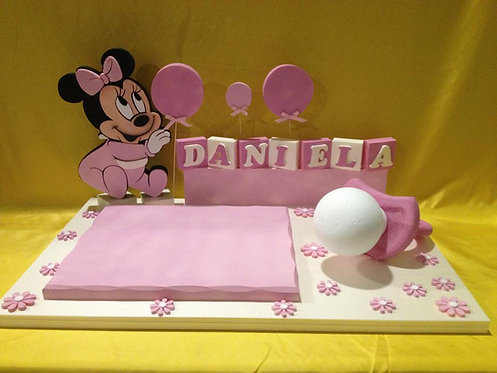 REF.213 Base tarta bebé minnie mouse con nombre