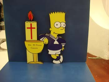 REF.321 Base tarta The Simpsons comunión