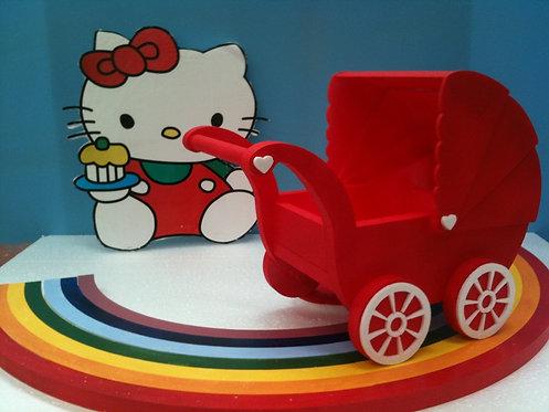 REF.225 Base tarta Hello Kitty con carro y nombre