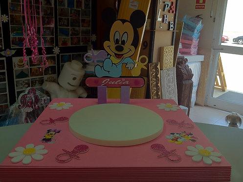 REF.217 Base tarta bebé mickey mouse con nombre