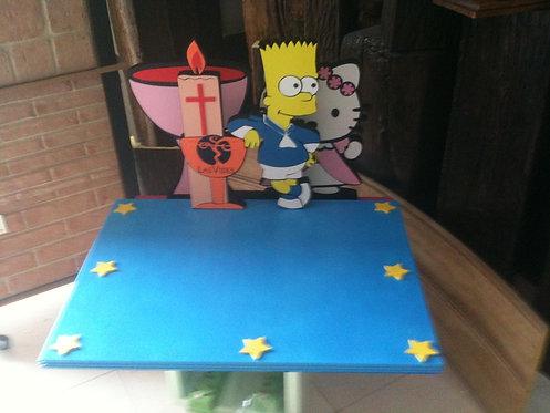 REF.322 Base tarta The Simpsons comunión