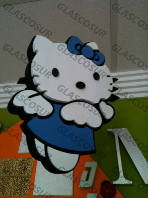 REF.907 Personaje Hello Kitty para la pared
