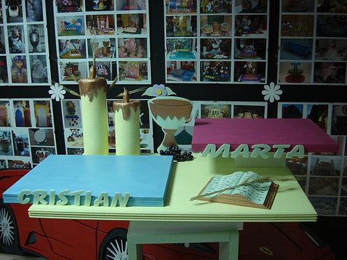 REF.340 Base para 2 tartas niño y niña con nombres
