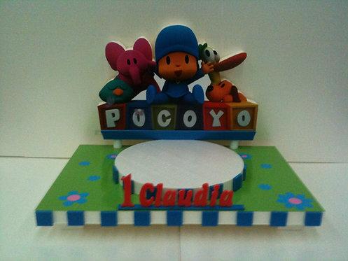 REF.227 Base tarta primer añito Pocoyó