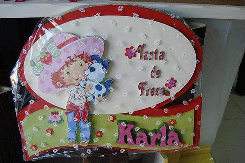 REF.910 Nombres para la pared Tarta de Fresa