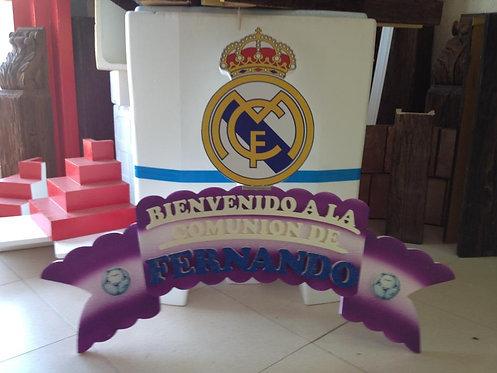 REF.344 Cartel bienvenida equipos de fútbol
