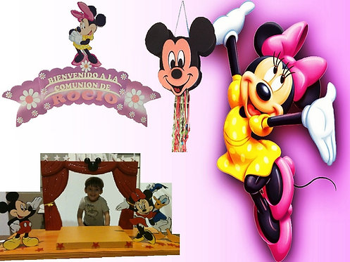 REF.348 Pack Fantasía: Cartel+base tarta+piñata