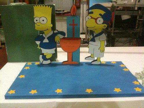 REF.320 Base tarta The Simpsons comunión