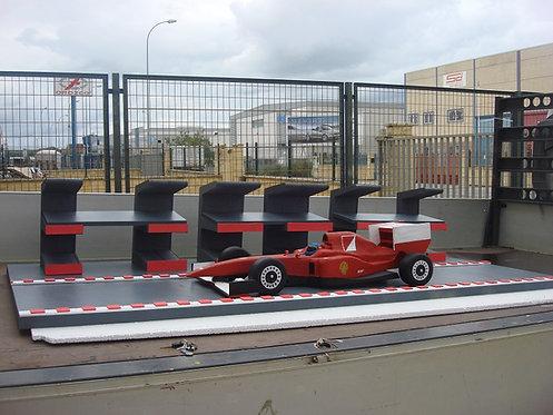 REF.343 Base tartas y regalos Ferrari y nombre