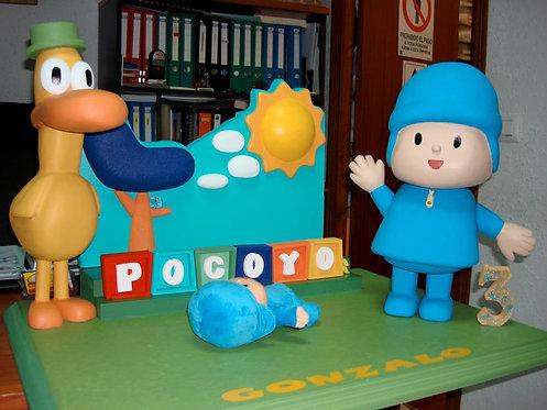 REF.219 Base tarta Pocoyó con nombre