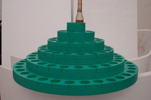 REF.613 Base 6 niveles para botellas pequeñas