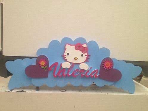 REF.904 Nombres para la pared Hello Kitty