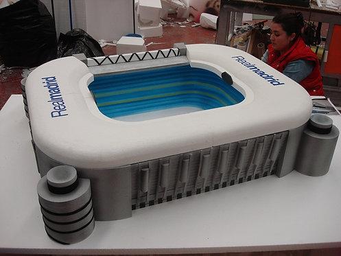 REF.341 Base tarta Santiago Bernabéu con nombre
