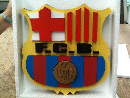 REF.920 Escudos de fútbol para la pared con nombre