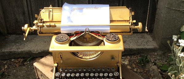 GOLD IMPERIAL TYPEWRITER