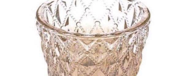 GOLD VINTAGE DIAMOND GLASS VOTIVE
