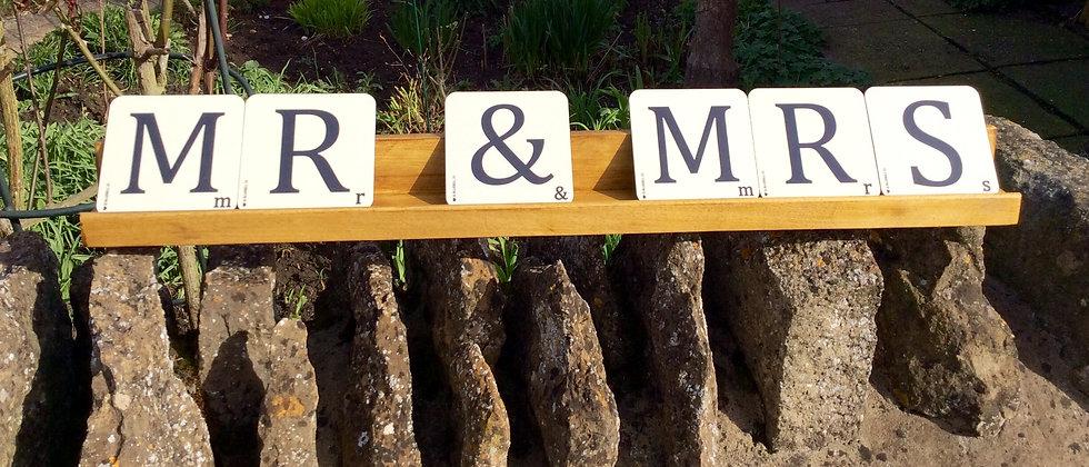 "LARGE SCRABBLE ""MR & MRS"""