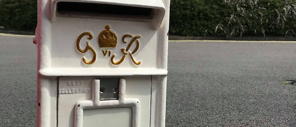 WHITE ORIGINAL GEORGE VI ROYAL MAIL BOX
