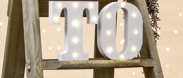 LIGHT UP TABLE NUMBERS