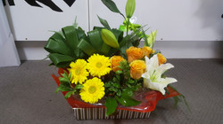 Small Floral Basket $60