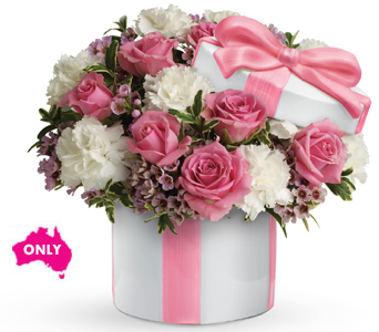 $90 Roses & Carnations in Container