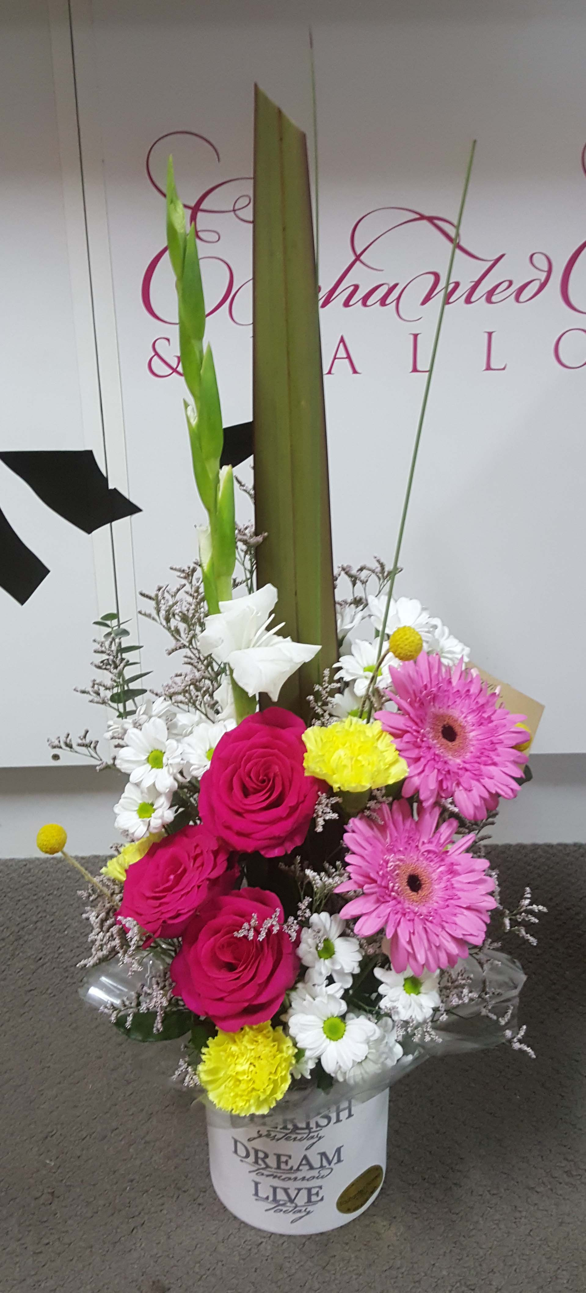 Bright Tall Arrangement $65