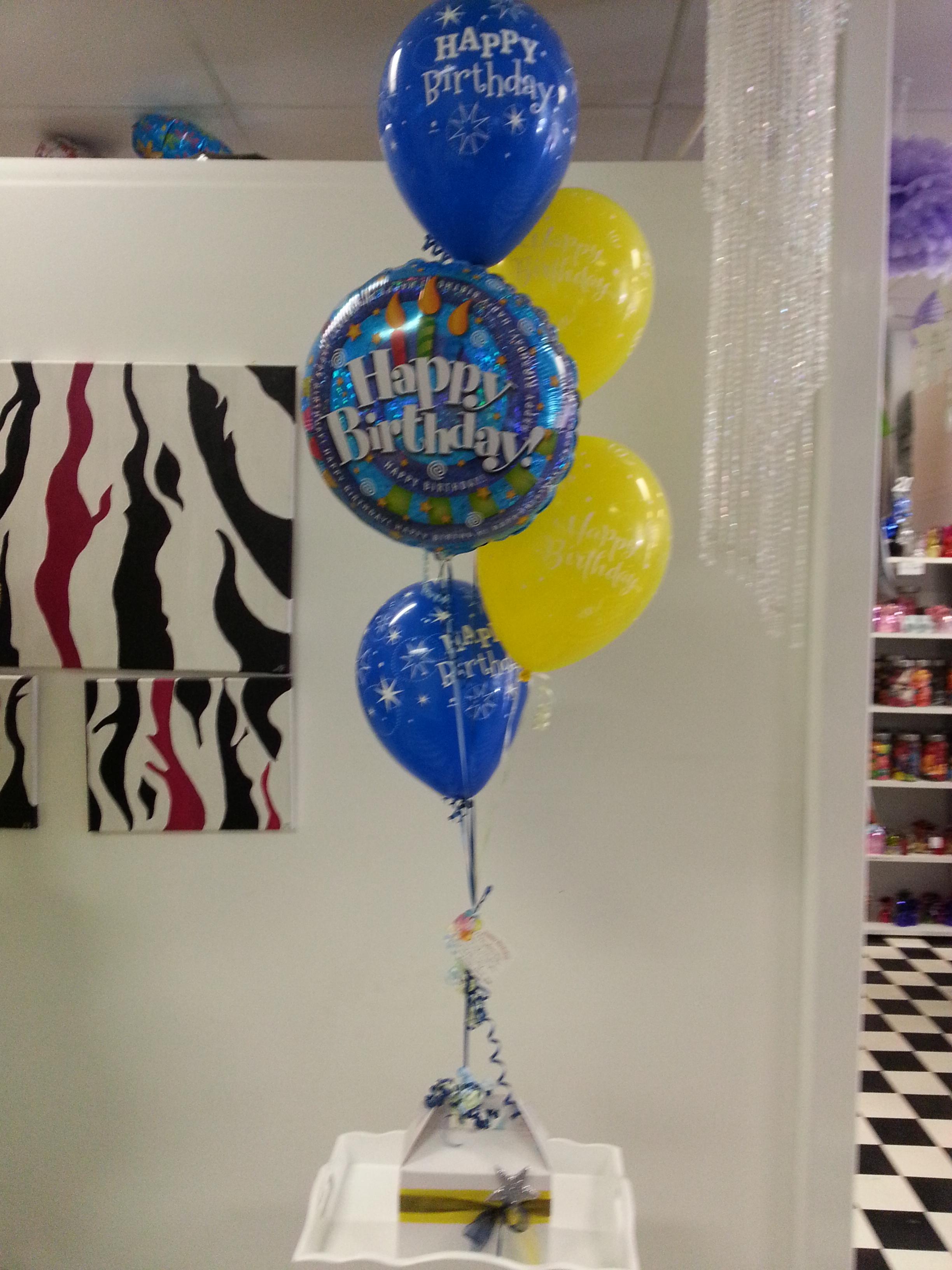 Balloons & Lolly box $60
