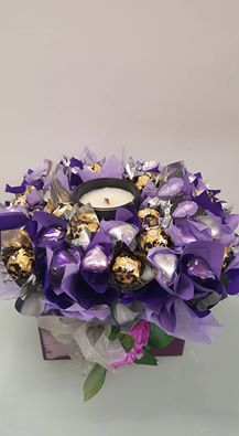 Chocolates with Candle $80