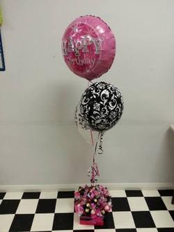 Chocolate & Balloons $57