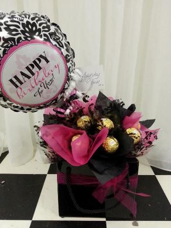 Chocolate & Balloon Bouquet $40