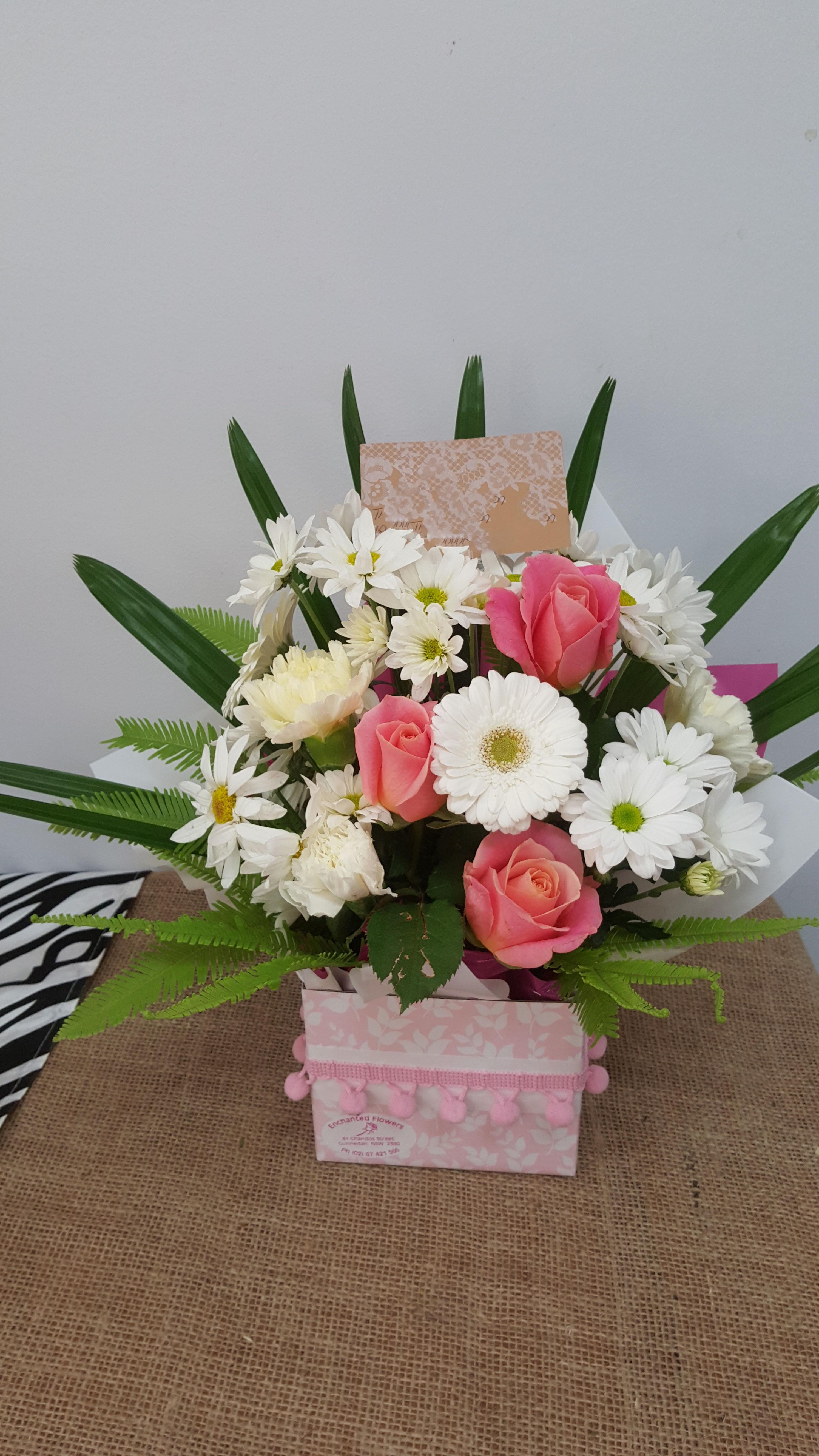 Pink & White Mini Box $45