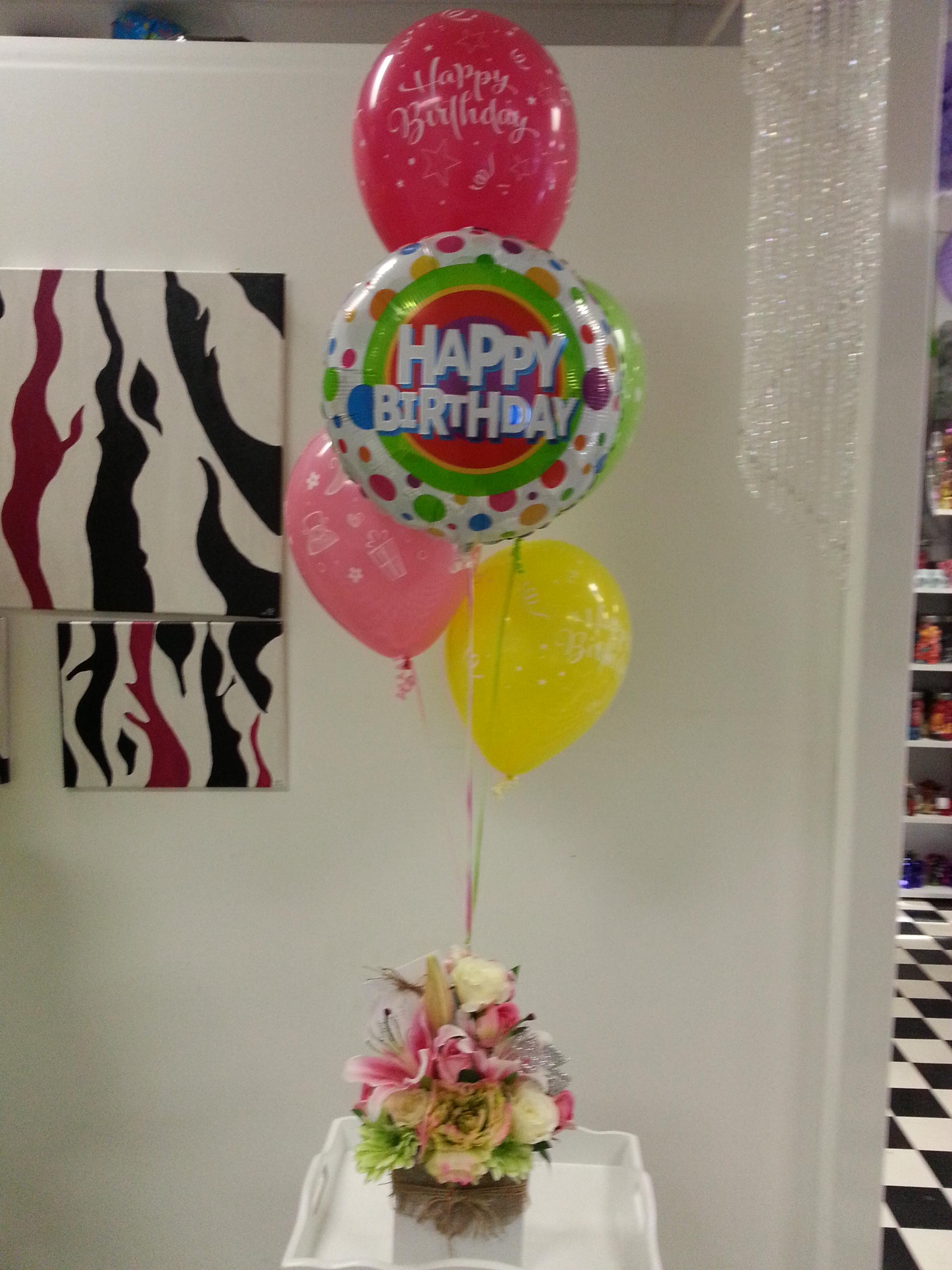 Ballloons & Flowers $80