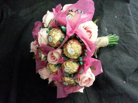Chocolate & Flower Bouquet $35