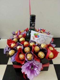 Chocolate & Wine Bouquet $80
