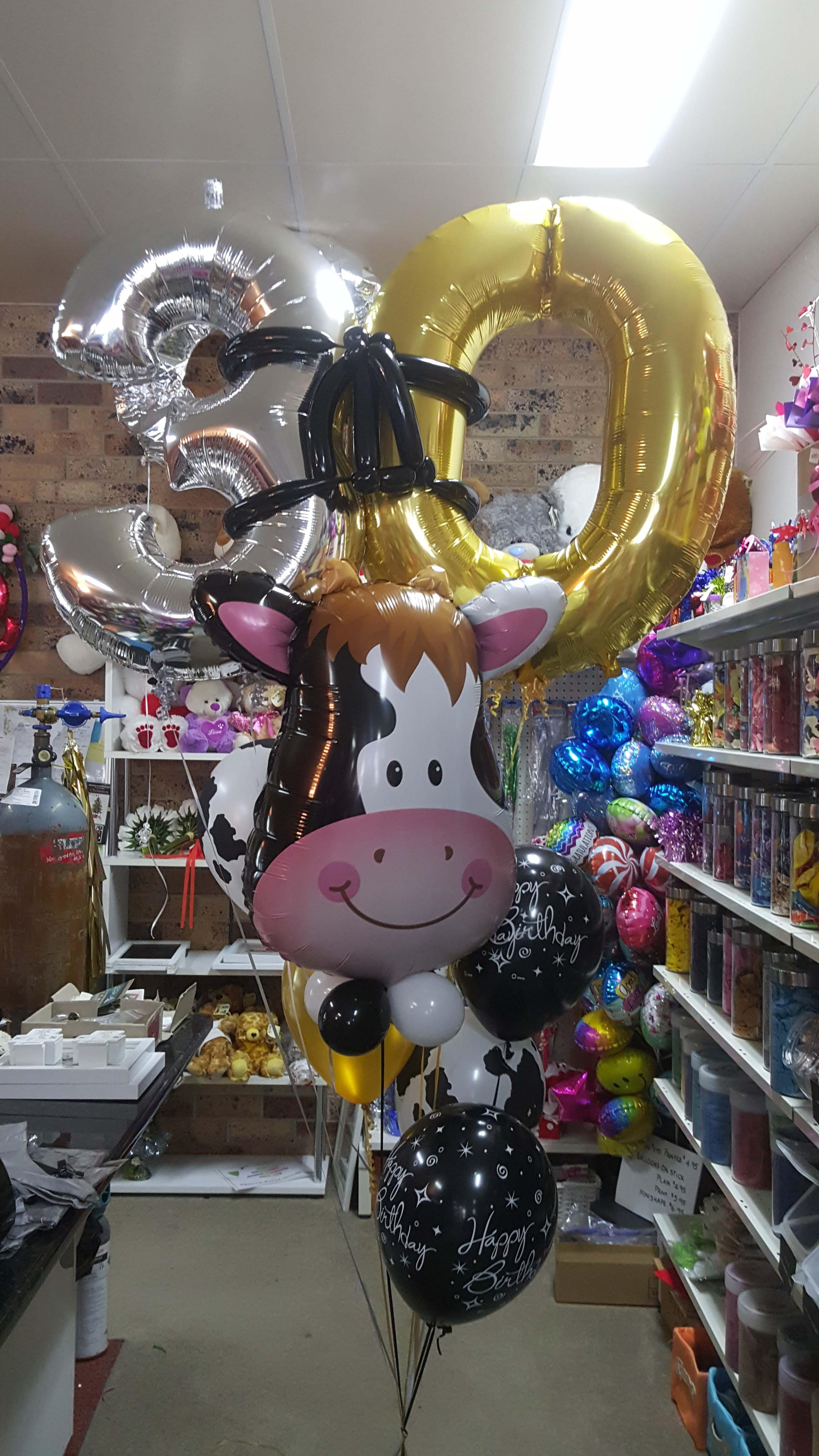 Giant 30 Cow bouquet $100