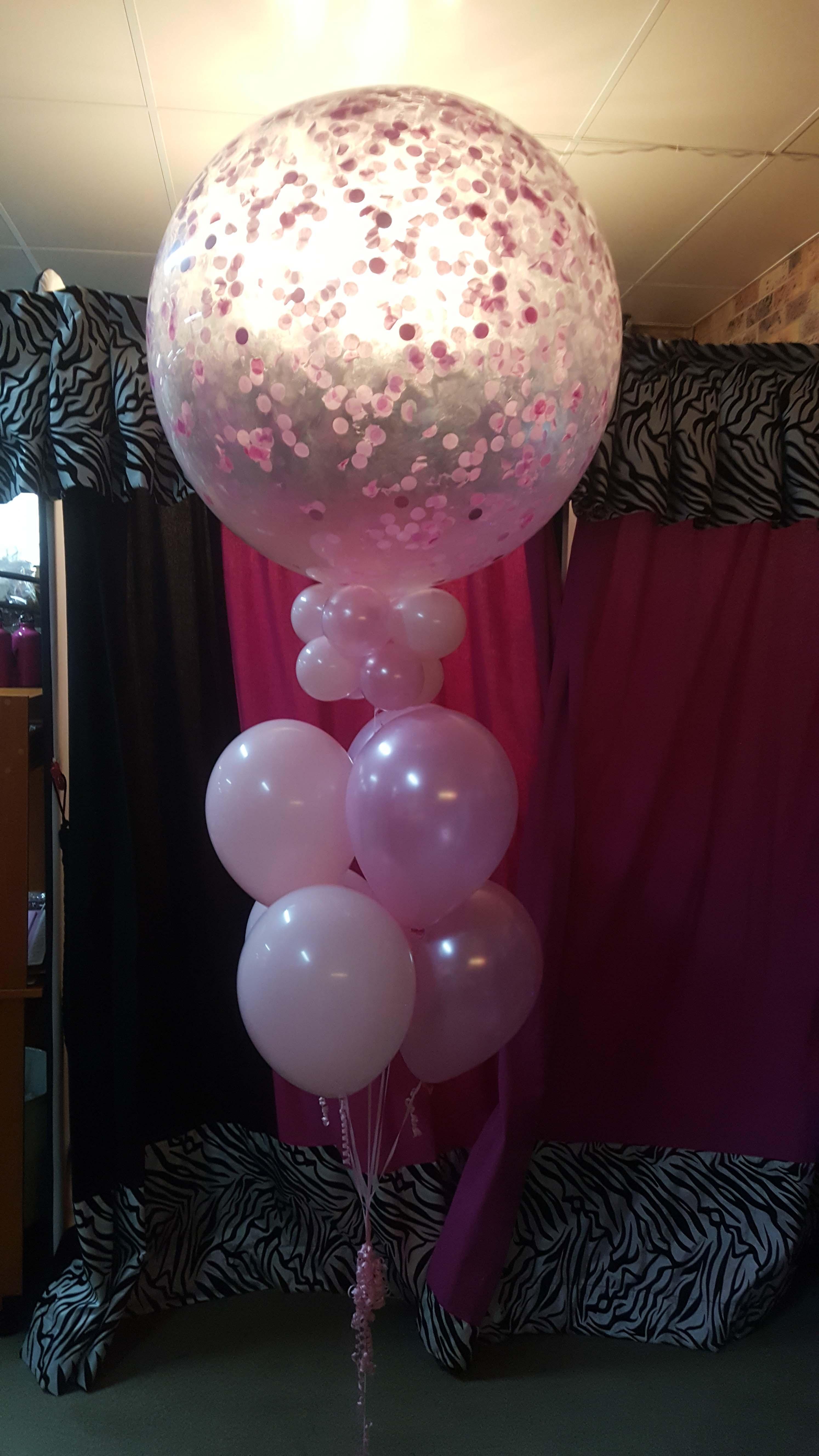 Giant Confetti Balloon Arrangement $80