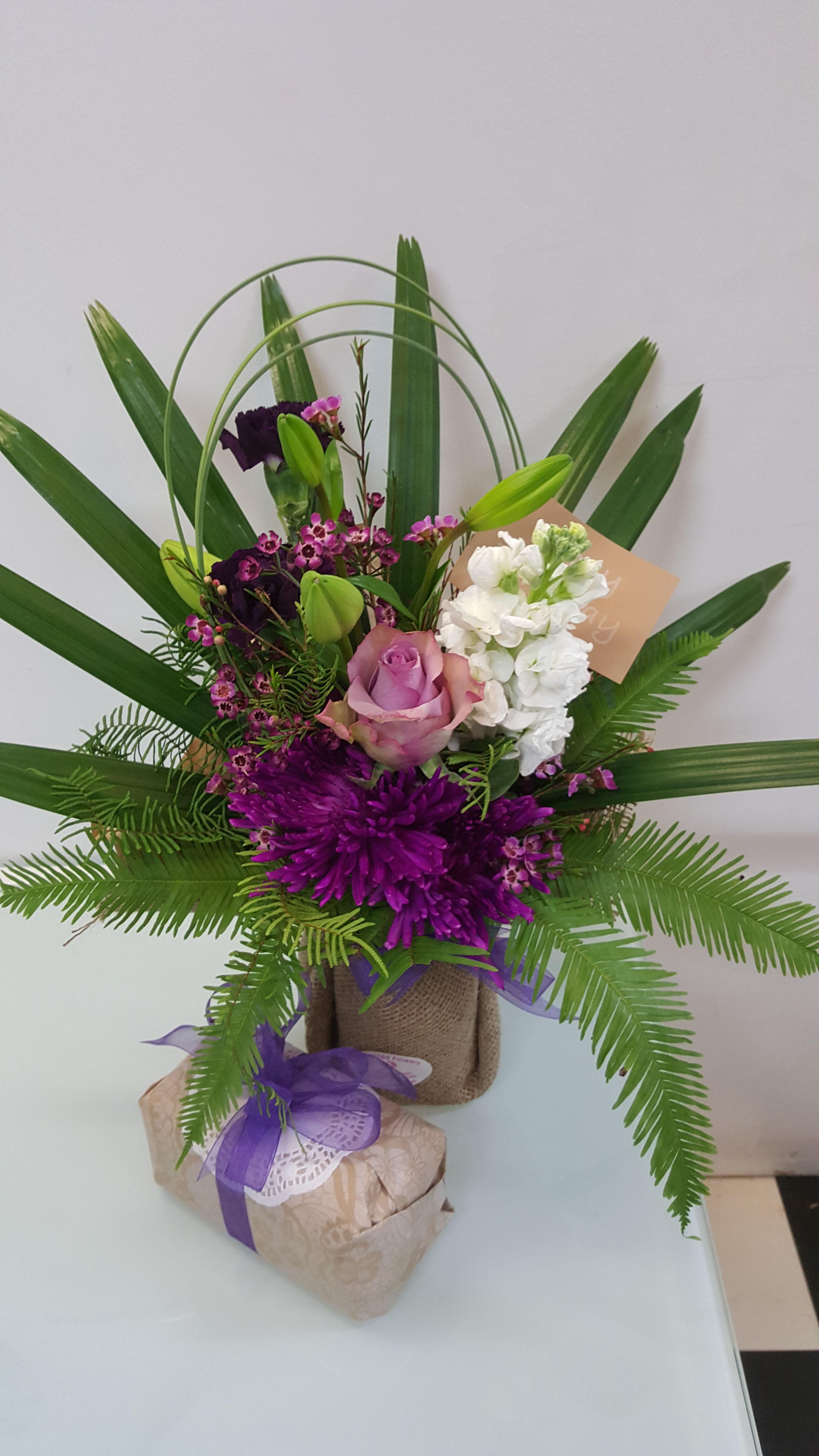 PurpleFlowers & Chocies $50