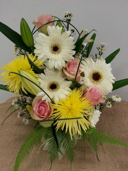 Mid Range Posy in Tin $60