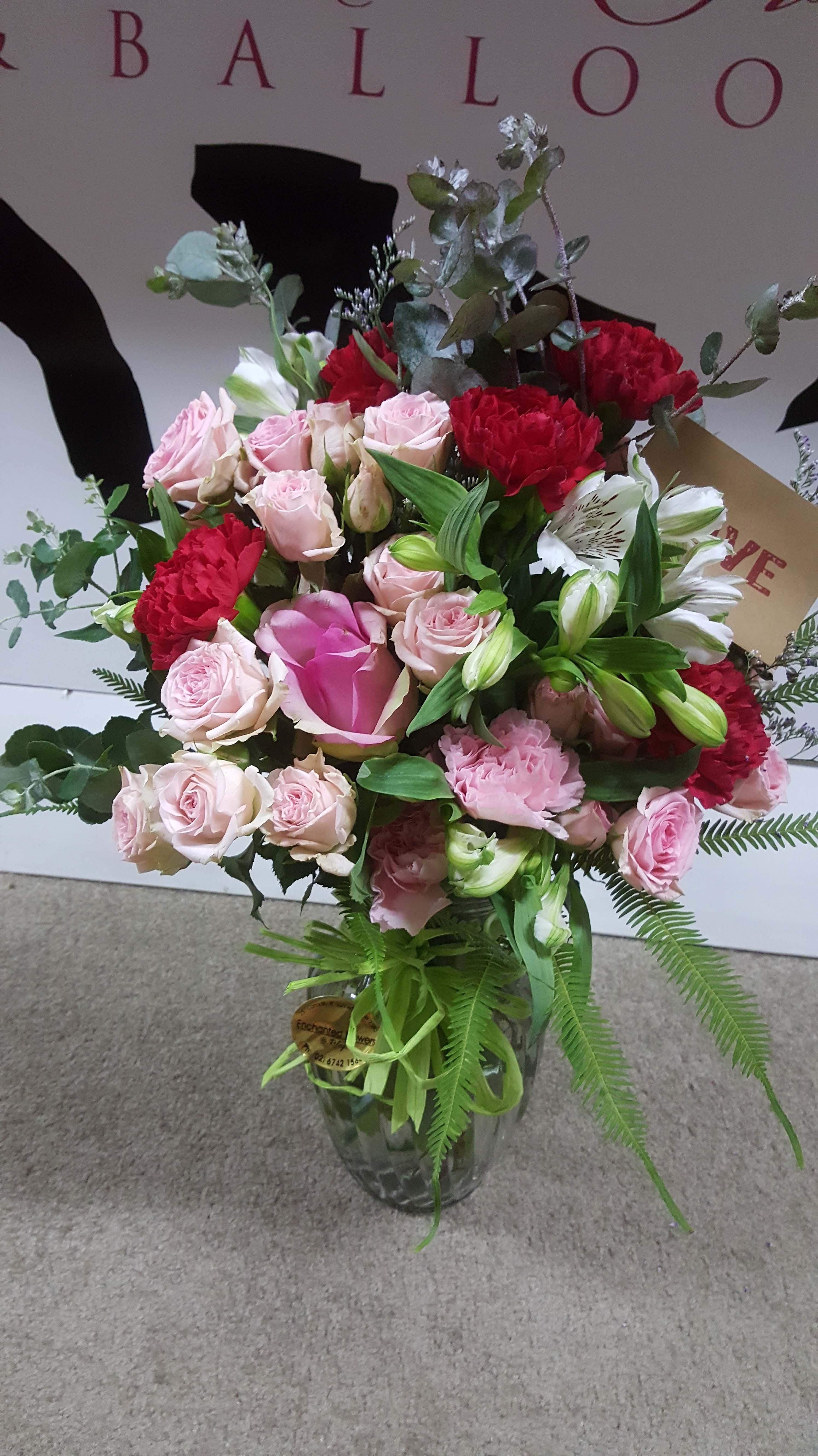 Roses in Vase $70