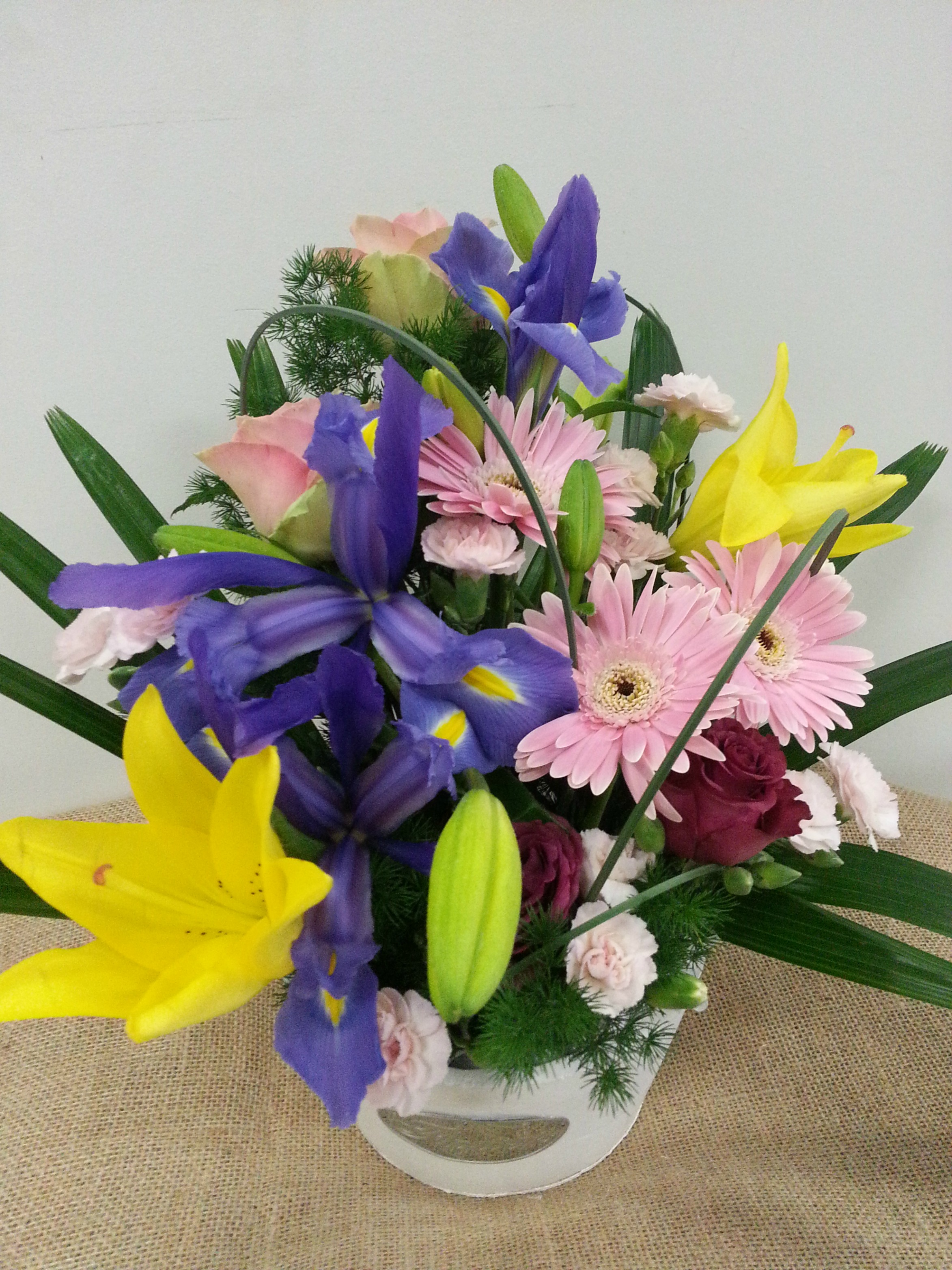 Large Posy in PLanter $80