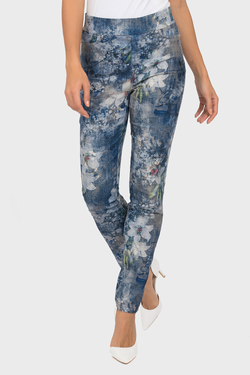 J R Pull on skinny jeans floral pattern