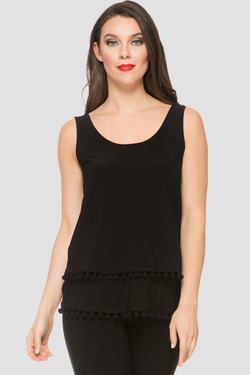 J R sleeveless top with tiered look