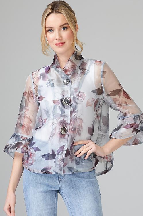 Sheer Floral Jacket