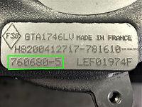 Number na tabliczce znamionowej turbosprężarki firmy GARRETT