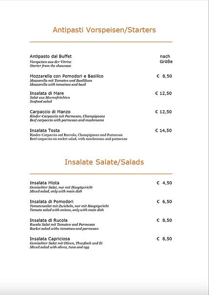 Antipasti & Salate