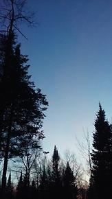 Winter Sunset - Three Lakes, WI