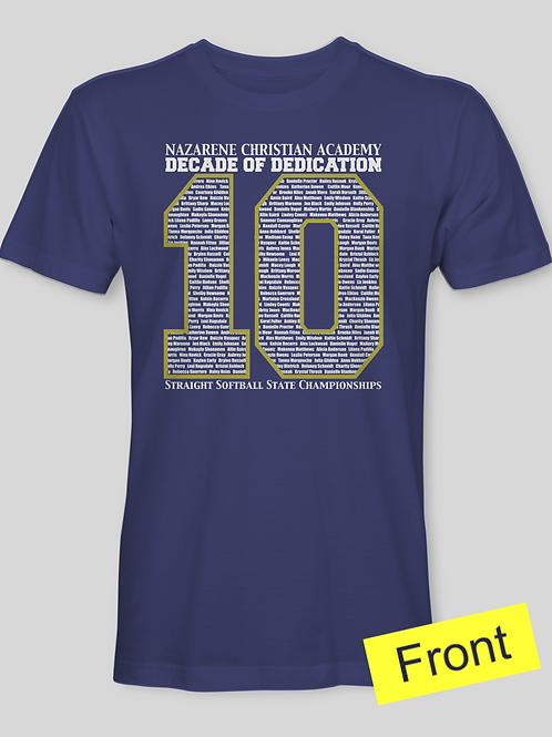 NCA Softball 10 Shirt