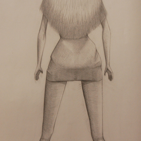 The Challenge, pencil on cartridge, 2012