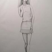 Untitled (Barbie 3) - pencil on cartridge